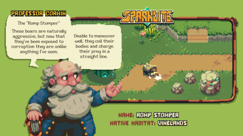 Secrets of Sparklite EXPOSED in Professor Corwin's Bestiary of Brutal Baddies
