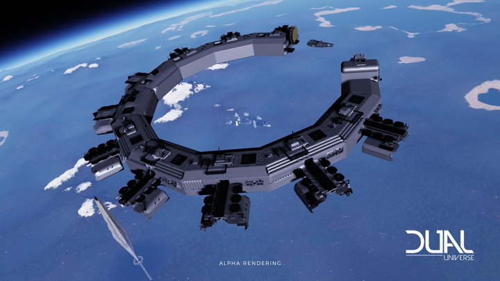New Alpha 2.1 Update Allows Dual Universe Building Community to Break Ground… In Space!