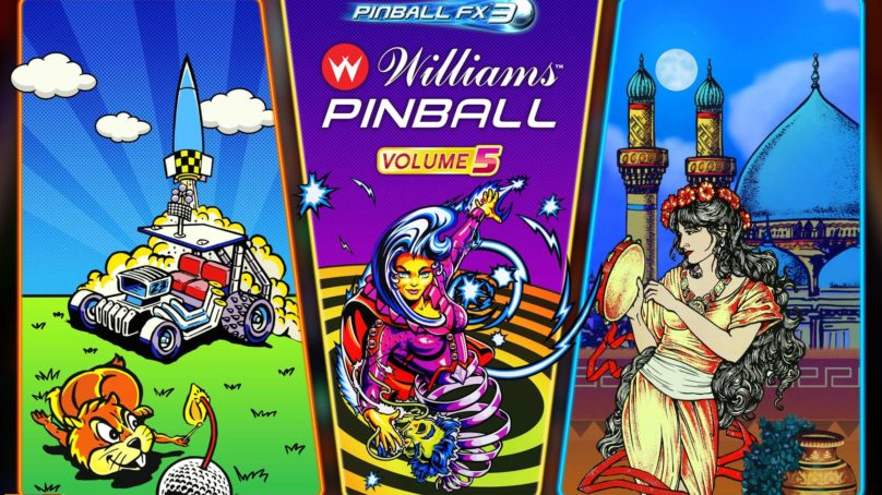 Williams Pinball: Volume 5 hits Pinball FX3 with a terrific table-trio!