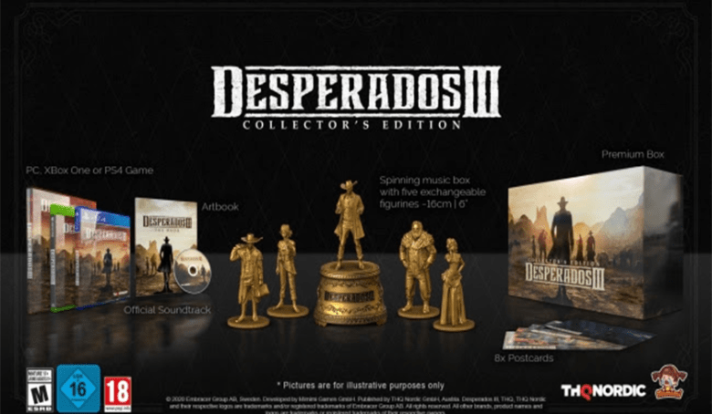 Catch 'em All: Desperados III is Getting a 5-Figurine Collector's Edition With Music Box and Season Pass